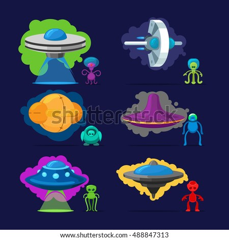 Aliens Vector Characters Space Invaders Monsters Stock ...