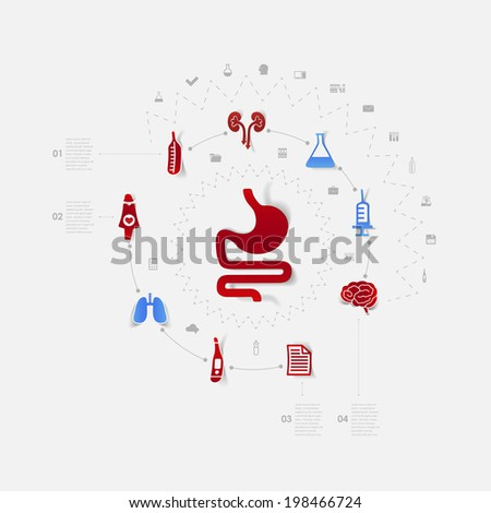 alimentary system - stock vector