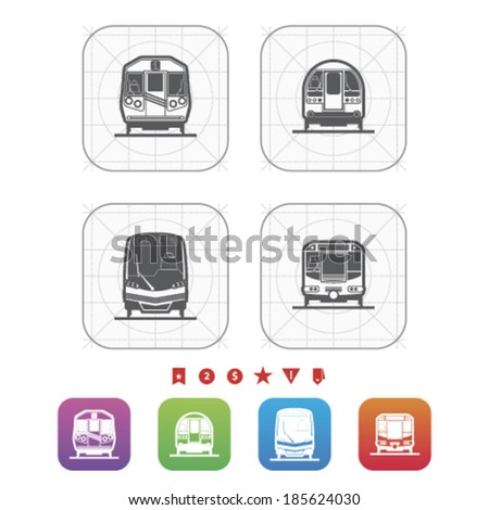 All about food, appliances, objects and other things in relation to Barbecue - Subway train, Old fashion subway train, Modern subway train, Subway train. - stock vector