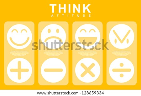 All Icon and Emotion of Attitude Thinking,Vector - stock vector