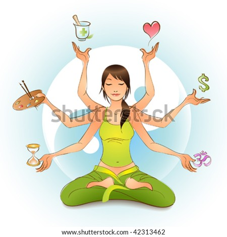 All in Balance - stock vector