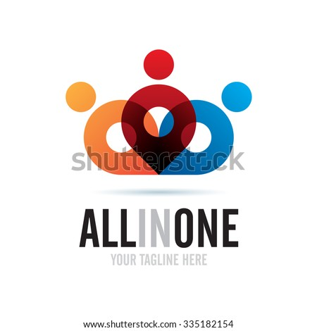All In One Icon Logo Element - stock vector