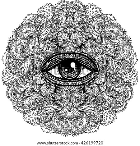 seeing eye dog coloring pages | Patterned Head Monkey On Grunge Background Stock Vector ...