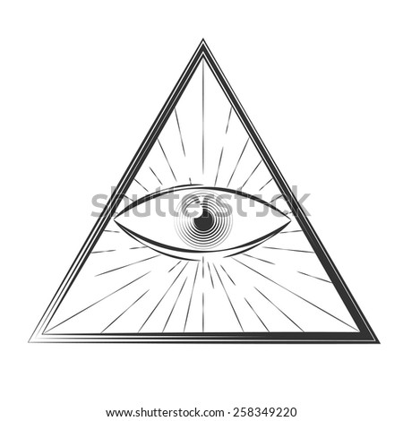 All seeing eye symbol, excellent vector illustration, EPS 10 - stock vector