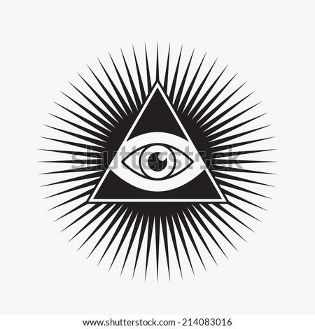 All Seeing Eye Symbol Star Shape Stock Vector 214083016 Shutterstock