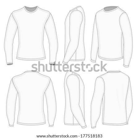 long sleeve shirt template stock images royalty free images vectors shutterstock. Black Bedroom Furniture Sets. Home Design Ideas