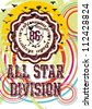 all star division - stock vector