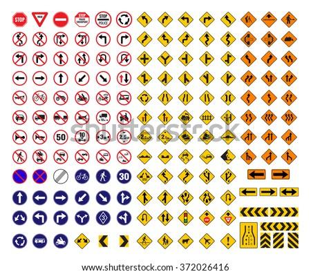 all traffic signs vector stock vector 372026416 shutterstock