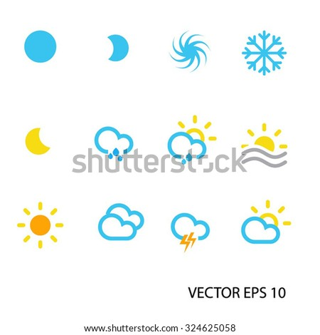 All weather icons in vector file.