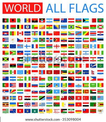 All World Vector Flags - Vector Collection  - stock vector