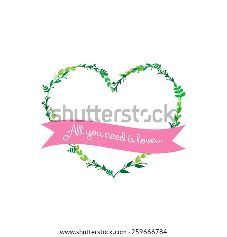 All you need is love pattern - stock vector