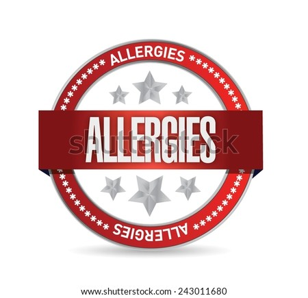 allergies seal illustration design over a white background - stock vector