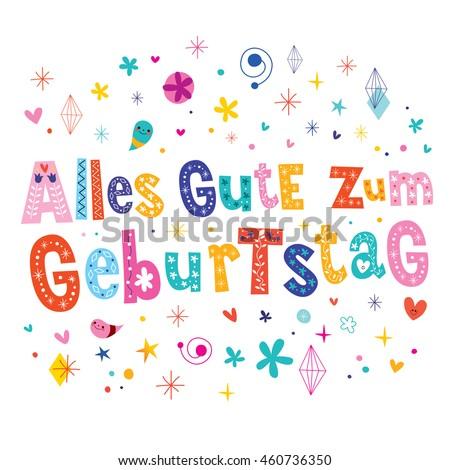Alles gute zum geburtstag deutsch german stock vector 460736350 alles gute zum geburtstag deutsch german happy birthday greeting card m4hsunfo