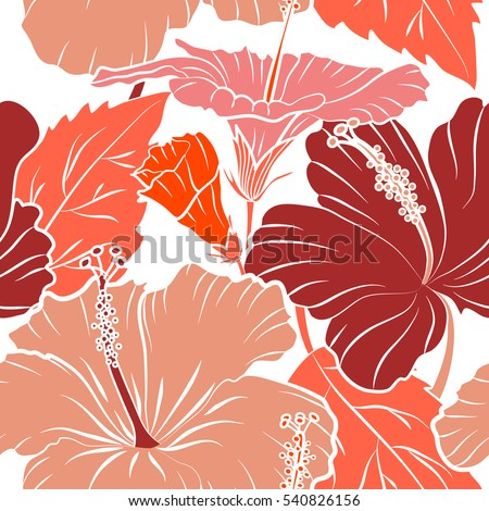Aloha Hawaii Luau Party Invitation On A White Background With Hibiscus Flowers In Pink