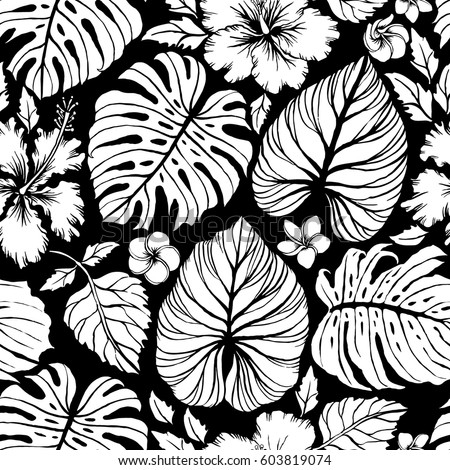 tropical leaves pattern stock images royaltyfree images