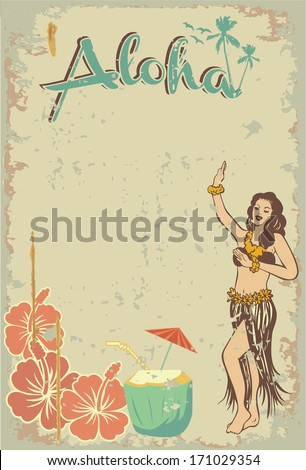 Aloha sign - stock vector