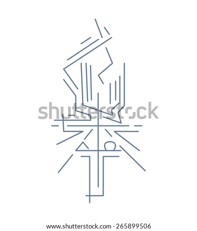 Alpha Omega Cross Hand Drawn Vector Stock Photo Photo Vector