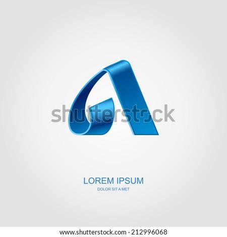 Alpha letter stylized vector, Letter of the alphabet, Vector illustration Eps 10 - stock vector