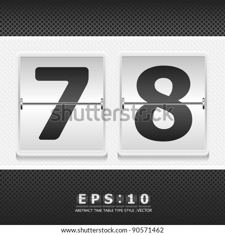 alphabet airport time table white color vector