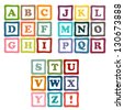 alphabet blocks collection - stock vector