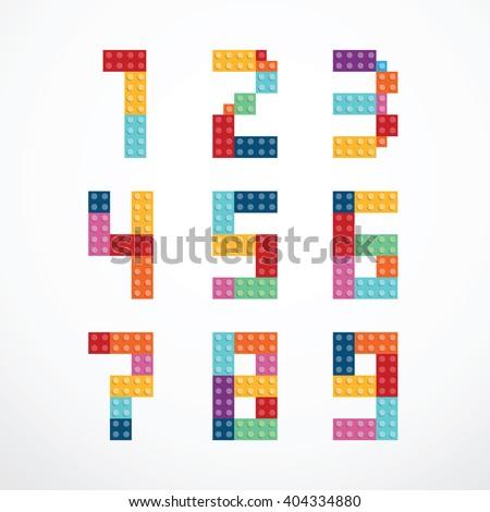 Alphabet blocks style vector set. - stock vector