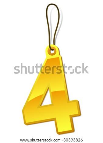 Alphabet cipher, figure 4 - tag - vector - stock vector