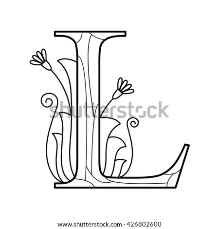 alphabet coloring page capital letter vector stock vector - I Coloring Page