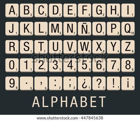 Alphabet created with a flat vector design - stock vector