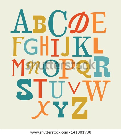 alphabet design. vector illustration - stock vector