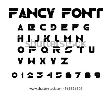 Alphabet Fancy Font Vector Design Element EPS10