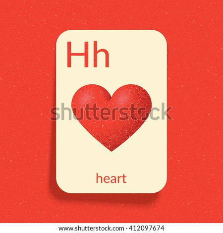 H Letter In Heart Phonetics Stock Images...