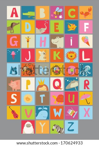 alphabet for kids - Alphabet Pictures For Kids