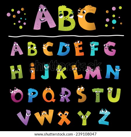 Alphabet for the kids: funny letters cartoon
