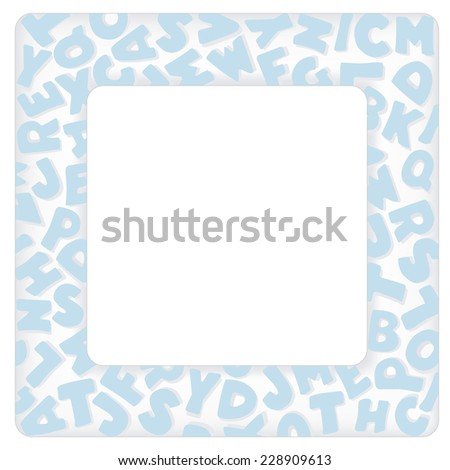 Alphabet frame square pastel blue letter stock vector 228909613 alphabet frame square pastel blue letter border with copy space for baby books albums solutioingenieria Image collections