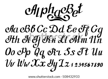 Alphabet Hand Print Letters Numbers Calligraphy 508432933 in addition Printable Calligraphy Letter Stencils additionally Alphabet also M 2 besides 357543657890947772. on artistic letter e