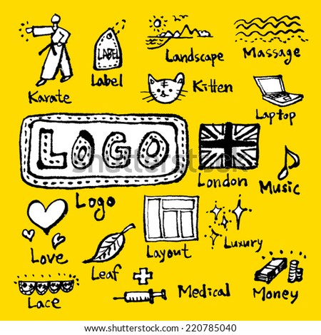 alphabet illustration - stock vector