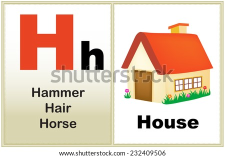 Alphabet letter h clipart few similar stock vector 2018 232409506 alphabet letter h with clip art and few similar words starting with the letter printable thecheapjerseys Image collections