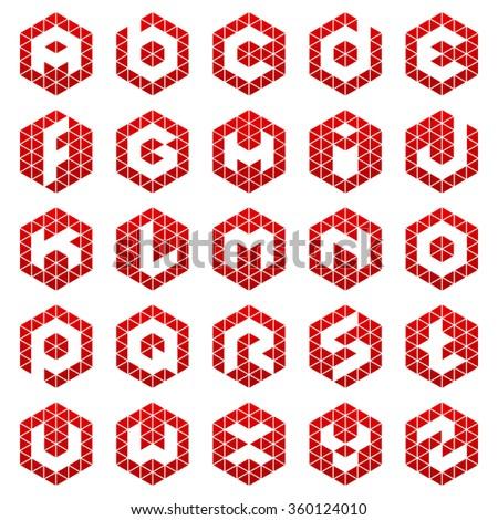 Alphabet letter Logos Vector set of letter logotypes  - stock vector