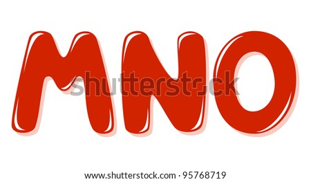 Alphabet letters - stock vector