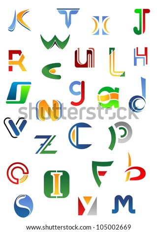Alphabet Letters And Icons From A To Z For Design Such Logo Jpeg Version