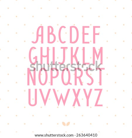 Alphabet letters. Hand drawn vector font - stock vector