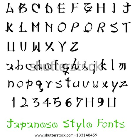 Alphabet Letters Of The Japanese Style