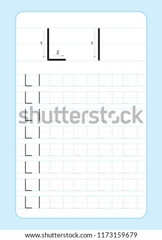 Alphabet letters tracing worksheet alphabet letters stock vector alphabet letters tracing worksheet with alphabet letters basic writing practice for kindergarten kids a4 paper spiritdancerdesigns Gallery