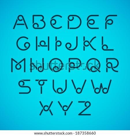 Alphabet letters. Vector. - stock vector