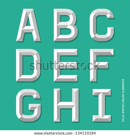 Alphabet modern colour style. Vector illustration. - stock vector