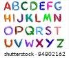 Alphabet over white background.Vector. - stock vector