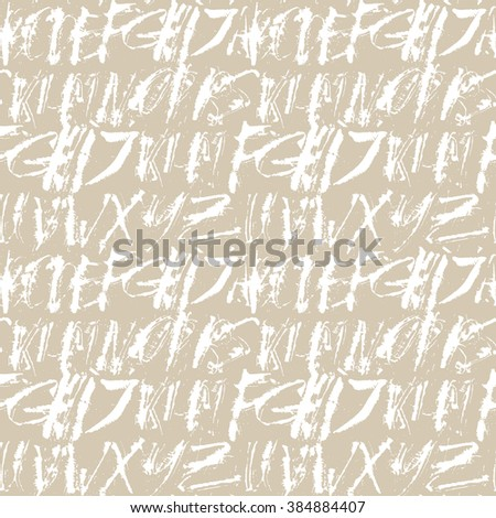 Alphabet seamless pattern. Modern expressive digital pattern. Vector illustration.