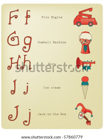 Alphabet - See more at my gallery - stock vector