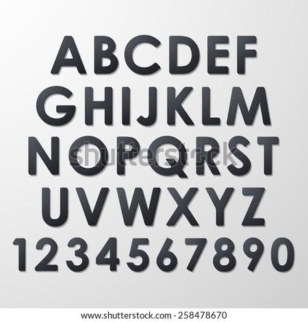 Alphabet Set - stock vector