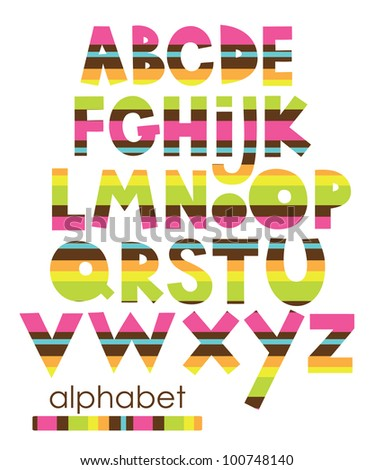 alphabet set design. vector illustration - stock vector